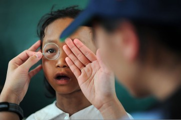 child's eyesight
