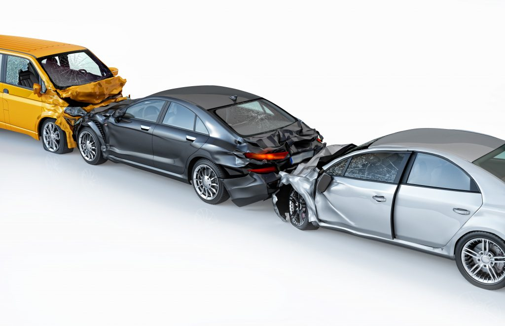 three car accident