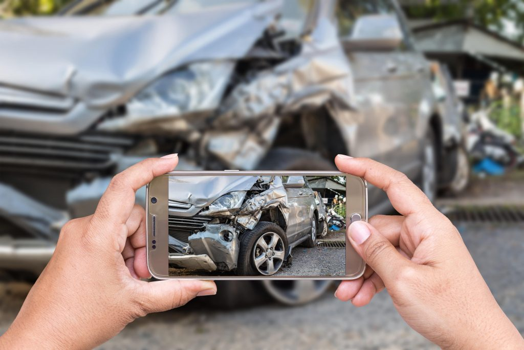 taking picture of car accident