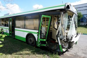 front end bus accident