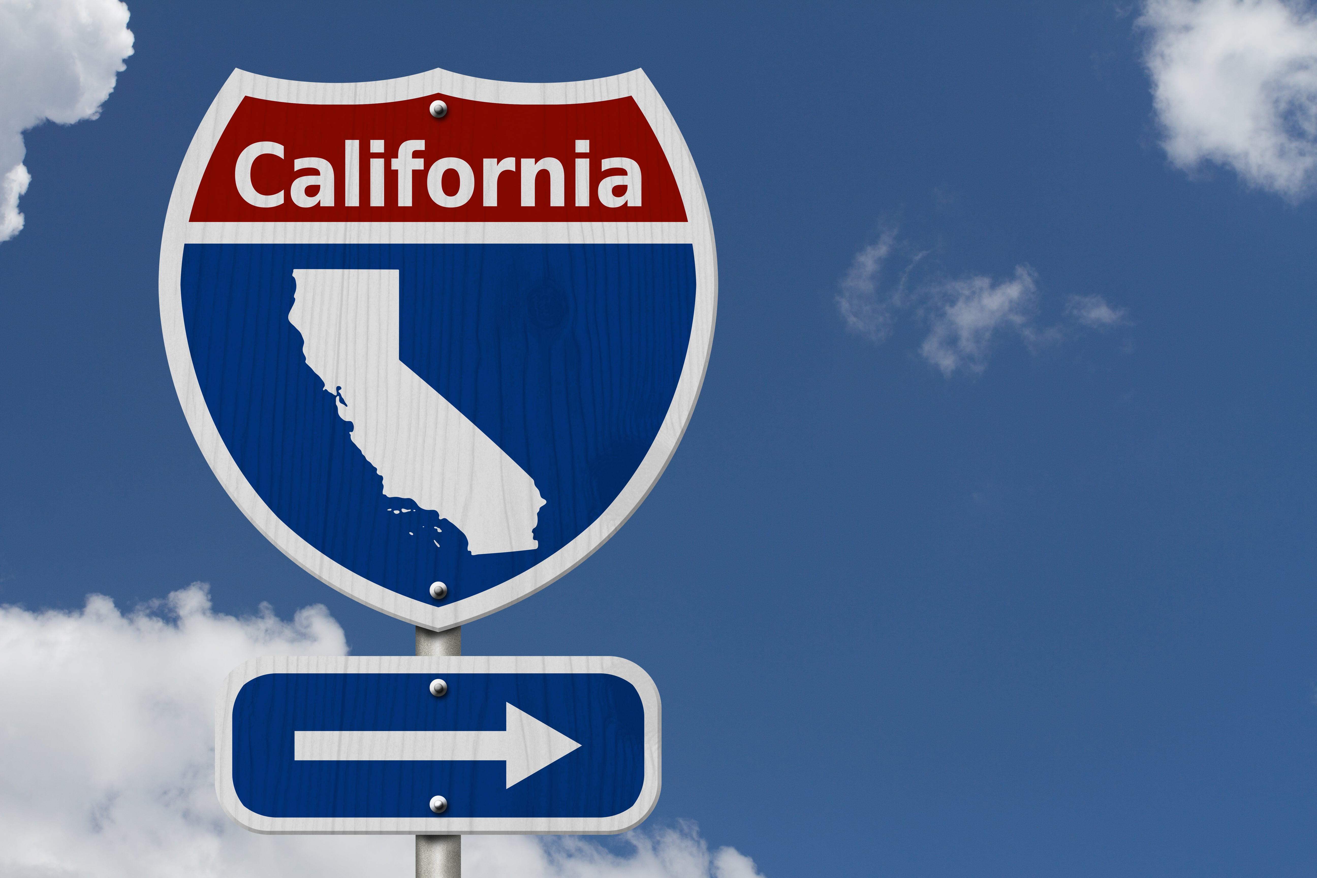 State of California traffic sign