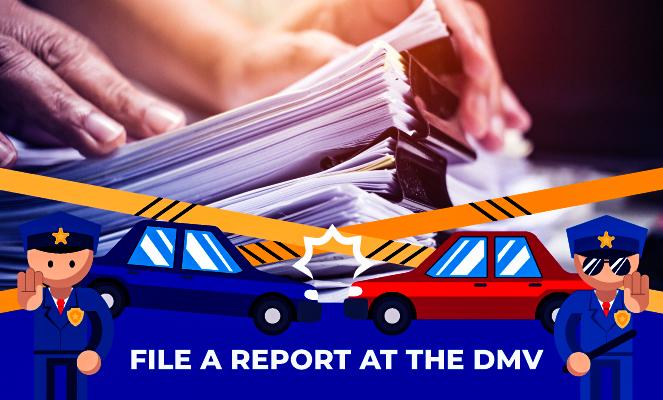 File a report at the California DMV