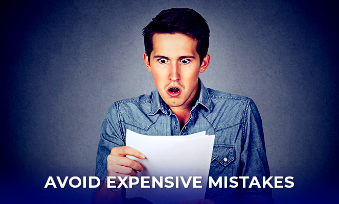 Man surprised about his expensive mistakes